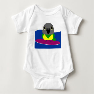 オウムパロット de papegaai van Senegal het Surfen Romper