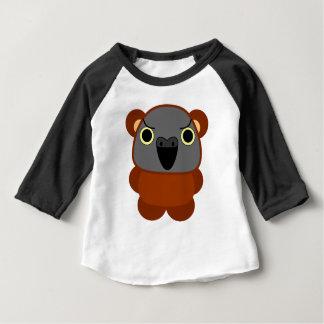 オウムパロット de Papegaai van Senegal in het kostuum van Baby T Shirts