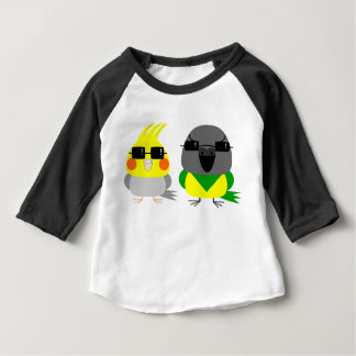 オカメインコオウム de papegaai van Cockatiel & van Senegal Baby T Shirts