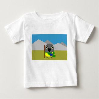 ネズミガシラハネナガインコオウム de papegaai van Senegal klaar te Baby T Shirts