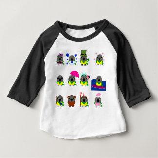 ネズミガシラハネナガインコオウム de vakantiedesign van de Papegaai Baby T Shirts