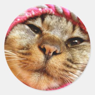 ピンク帽子のチャド RONDE STICKER