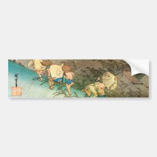 旅人とにわか雨, 広重 Reizigers in een Douche, Hiroshig Bumpersticker