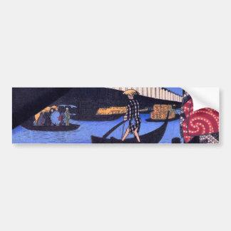 江戸の風景, 広重 Landschap van Edo, Hiroshige Ukiyoe Bumpersticker