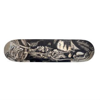 雲龍図, 曾我蕭白 Draak met Wolk, sumi-E 20,0 Cm Skateboard Deck