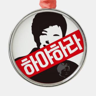 박근혜 UIT - Park geun-Hye UIT! Zilverkleurig Rond Ornament