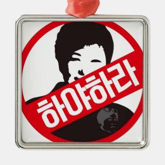 박근혜 UIT - Park geun-Hye UIT! Zilverkleurig Vierkant Ornament