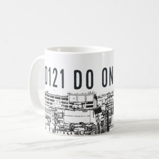 0121 DOE ÉÉN en cityscape van Birmingham op mok