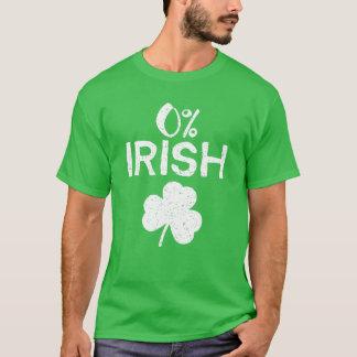 0% het Iers - Grappige St Patricks Dag T Shirt