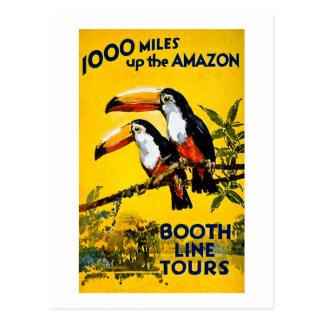 1000 mijlen omhoog het Poster van de Reis van Briefkaart
