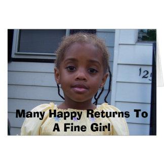 100_0025, Felicitaties aan een Fijn Meisje Kaart