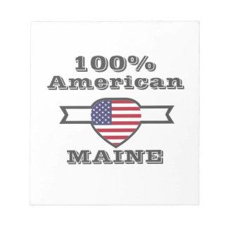 100% Amerikaan, Maine Notitieblok