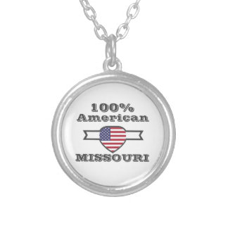 100% Amerikaan, Missouri Zilver Vergulden Ketting