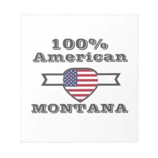 100% Amerikaan, Montana Notitieblok