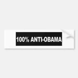 100% anti-Obama Bumpersticker