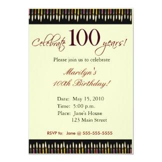 100 de partijuitnodiging van de Verjaardag van Kaart