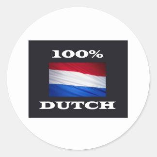 100% dUTCH Ronde Sticker