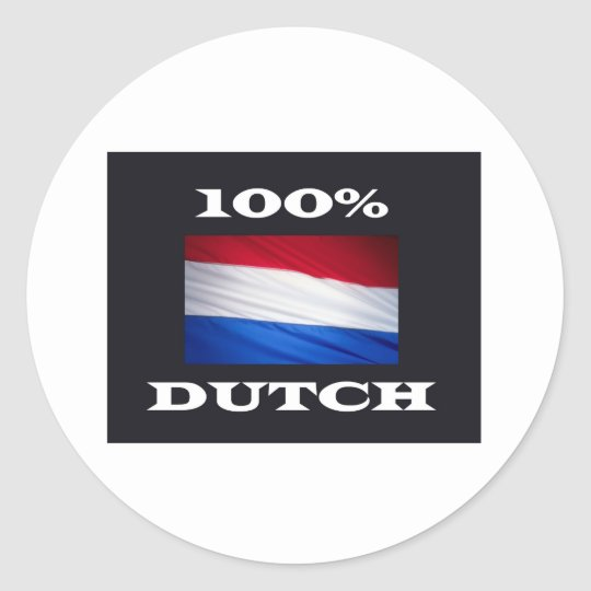 100% dUTCH Ronde Sticker