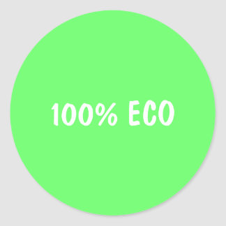 100% ECO RONDE STICKER