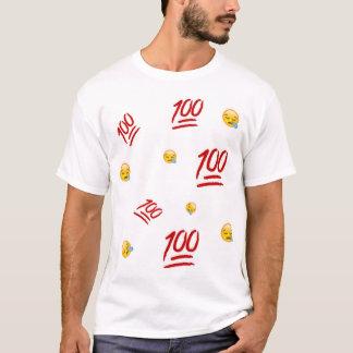 100 Grafische Bovenkant Emoji T Shirt