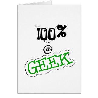 100 percenten Geek Wenskaart