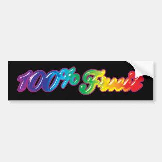 100 percenten van het Fruit Bumpersticker