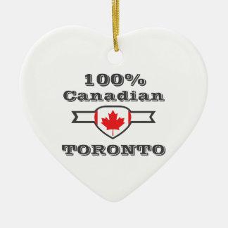 100% Toronto Keramisch Hart Ornament