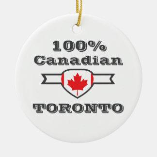 100% Toronto Rond Keramisch Ornament