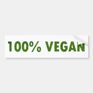 100% Veganist Bumpersticker