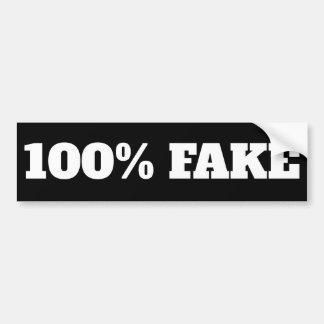 100% Vervalsing - de zwarte van de Sticker