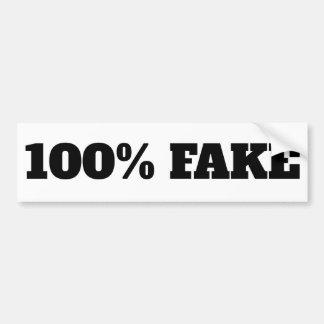 100% Vervalsing - het wit van de Sticker