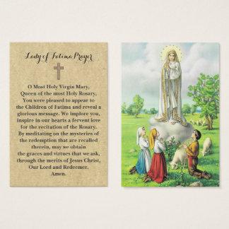 100 x Dame van Fatima Prayer Cards Visitekaartjes