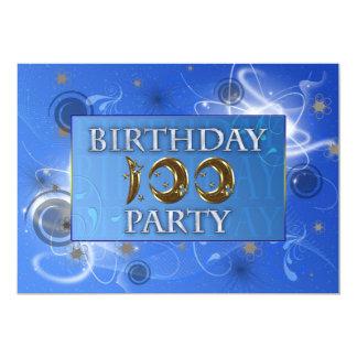 100ste Abstracte de partijuitnodiging van de 12,7x17,8 Uitnodiging Kaart