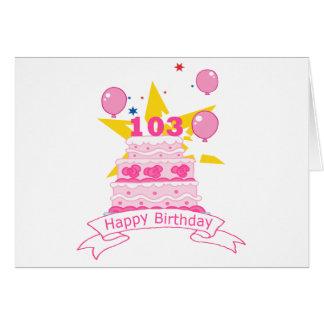 103 de Cake van de Verjaardag van éénjarigen Briefkaarten 0