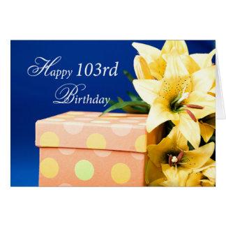 103 de Gift en de Lelies van de Verjaardag van Kaart