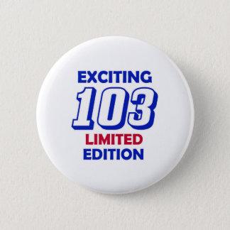 103 het Ontwerp van de verjaardag Ronde Button 5,7 Cm