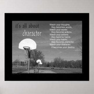 #103 (Steen) het Poster van het Basketbal