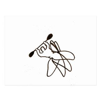 1082 kajak Cartwheel Briefkaart