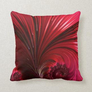 108-60 groot glanzend rood blad sierkussen