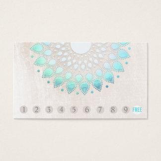10 de Loyaliteit Turkoois Lotus van de Klant van Visitekaartjes