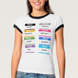 10 Hello Mijn Naam is de T-shirts van de Kleuren