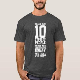 10 types van het Grappige Binaire getal van Mensen T Shirt