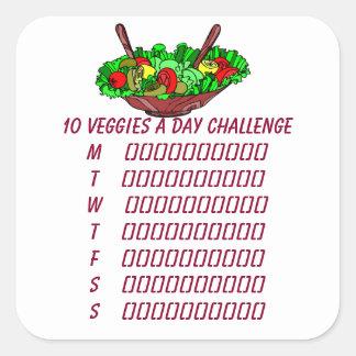 10 Veggies een Dag de Sticker van de Ontwerper van