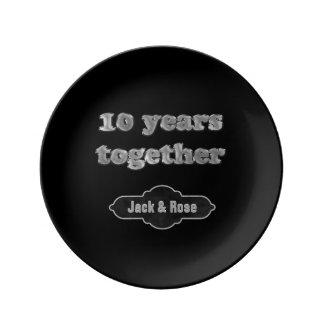 10de Elegante Herinnering | van het Jubileum van Bord Van Porselein