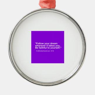 119 de kleine Gift Bedrijfs van de Eigenaar - volg Zilverkleurig Rond Ornament