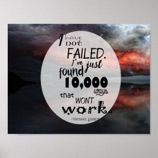 "11"" x 8.5"", Poster (Steen) Thomas Edison Quote"
