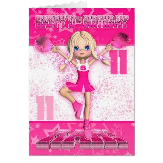 11de Verjaardag Cheerleader die, Sterren in Pinks Briefkaarten 0