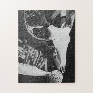 11x14 het Raadsel van de Schedel van herten (omvat Legpuzzel