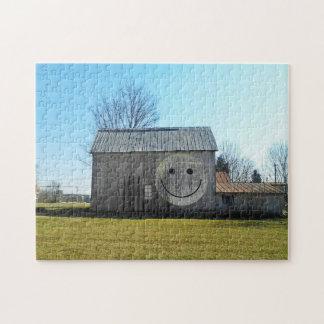 11x14 Schuur van het Gezicht Smiley van het Puzzel