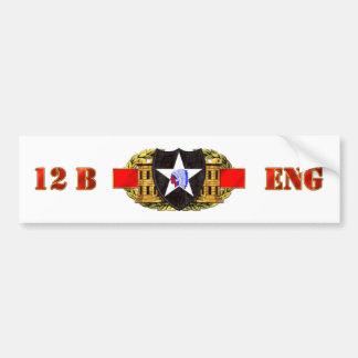 12B de 2de Afdeling van de Infanterie Bumpersticker